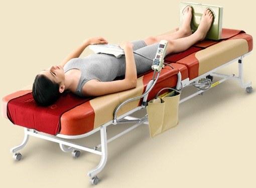 Как делать массаж при помощи массажной кровати