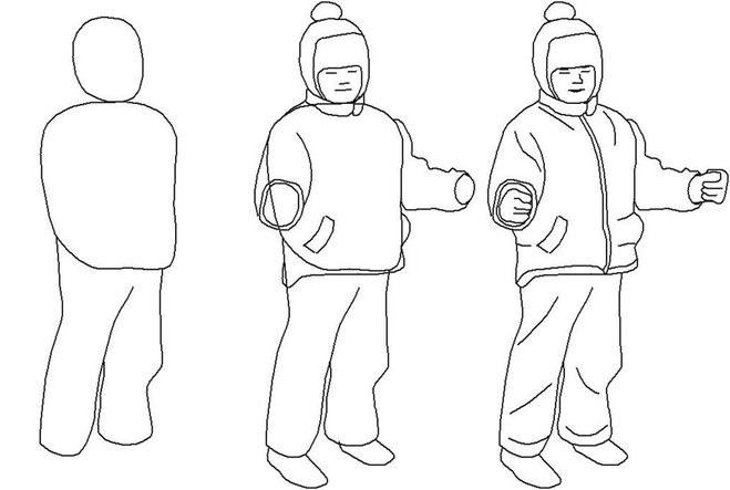 Как нарисовать мальчика на лыжах карандашом