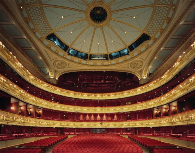 The auditorium of the Royal Opera house in London