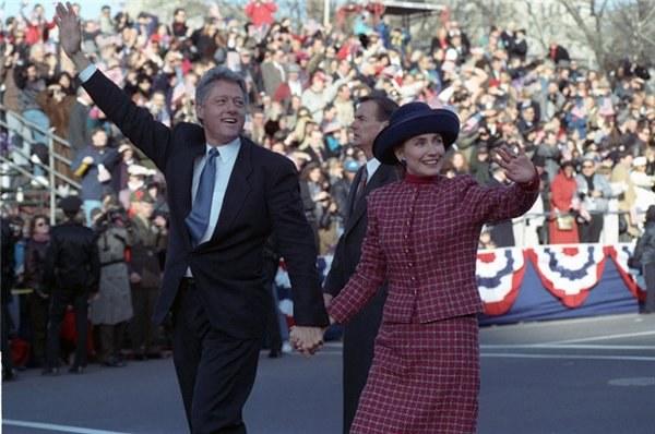 Билл Клинтон после победы на президентских выборах 3 ноября 1993 году