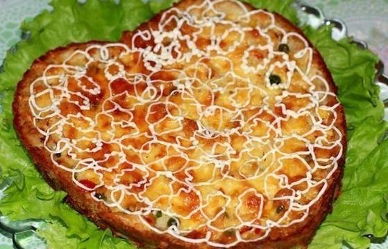 """Куриный пирог с """"гавайской"""" начинкой"""