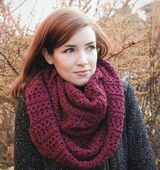 How to tie Snood knitting