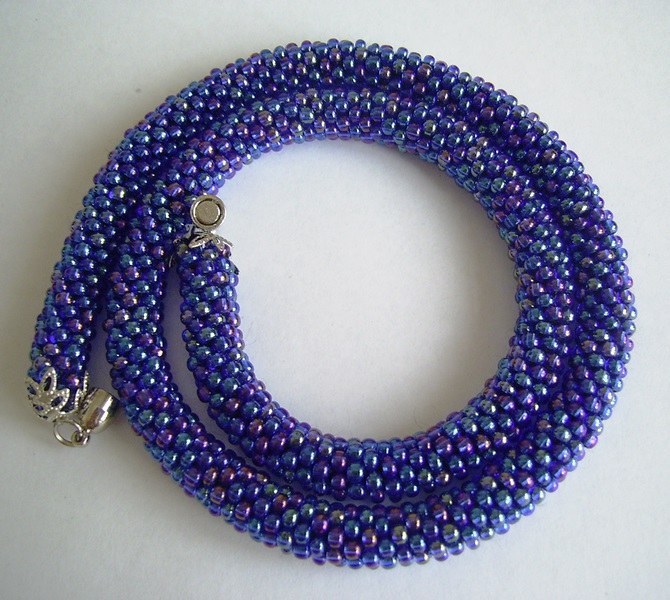 Crocheted wiring beaded