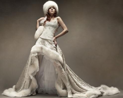Зимняя свадьба: выбираем наряд