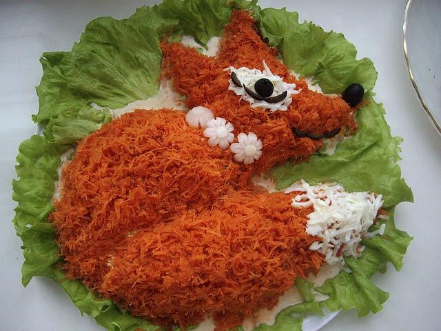"""Как приготовить салат """"Лисичка"""""""