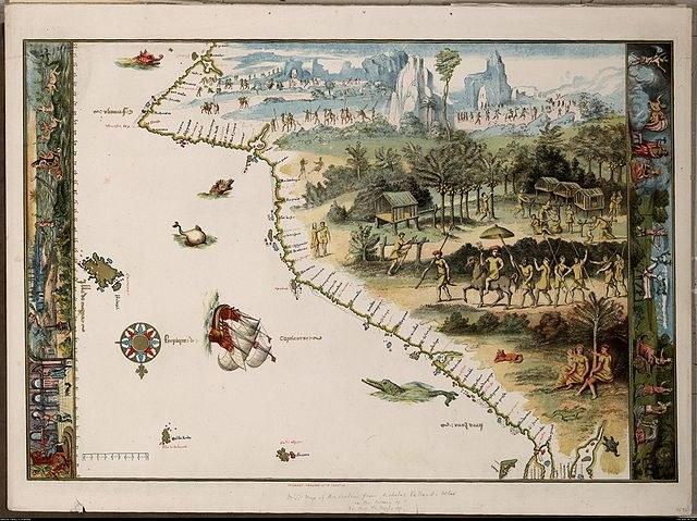 Первая карта Австралии