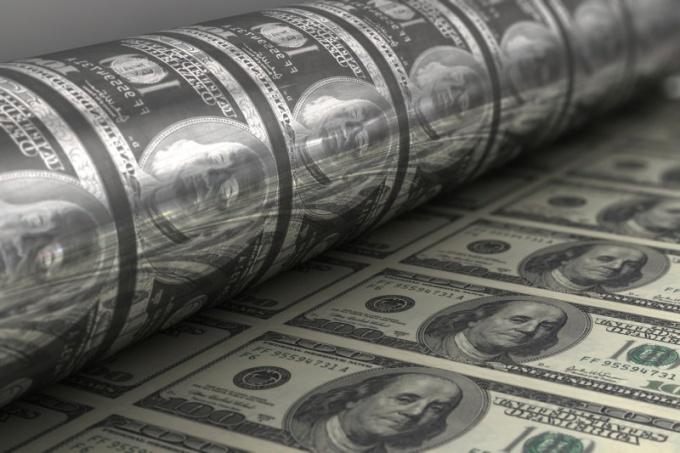 Как печатают доллары