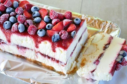 Замороженный торт с белым шоколадом