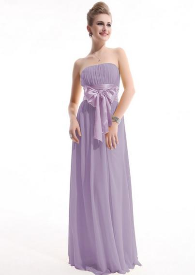 Вечернее платье сиреневого цвета