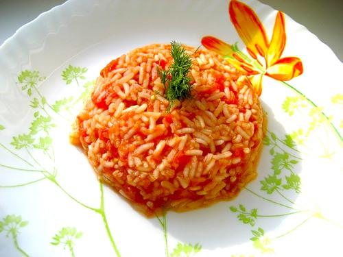 Пикантный рис с апельсинами