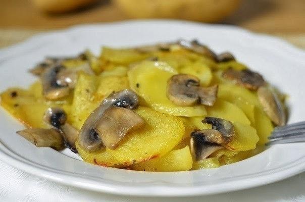 Как приготовить картошку с грибами в сливках