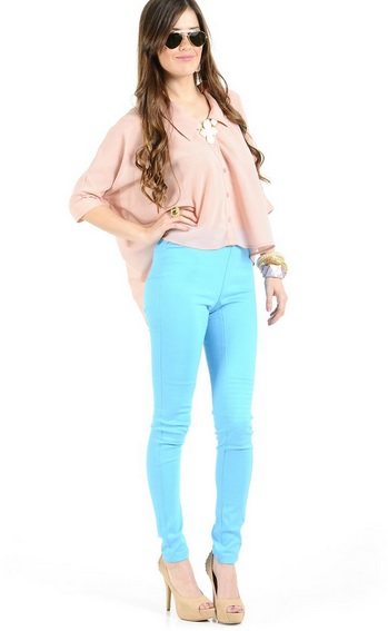 Pants turquoise