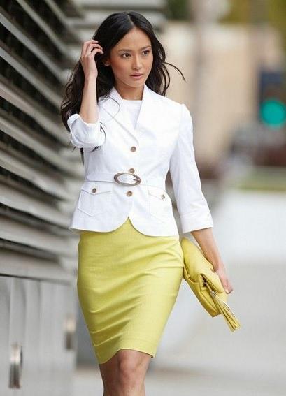 Белый жакет: с чем носить?