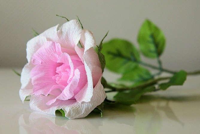 сделать розу из конфет