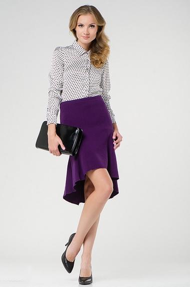 Юбка фиолетового цвета