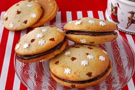 Как приготовить печенье вупи с шоколадной начинкой