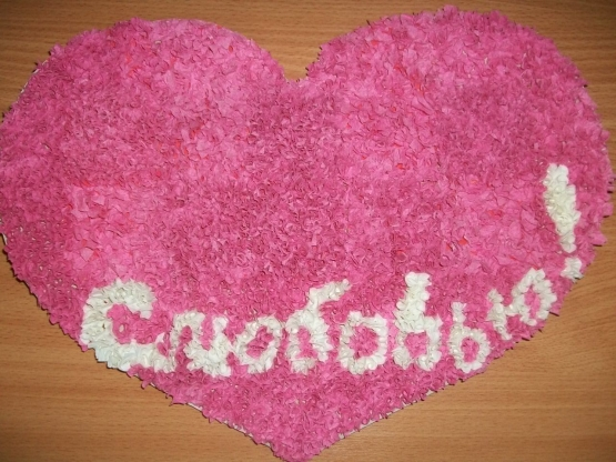 Как сделать валентинку из салфеток