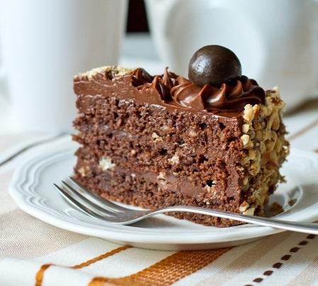 """Шоколадно-ореховый торт с """"Нутеллой"""""""