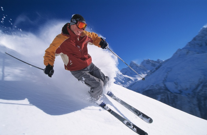Как встать на горные лыжи