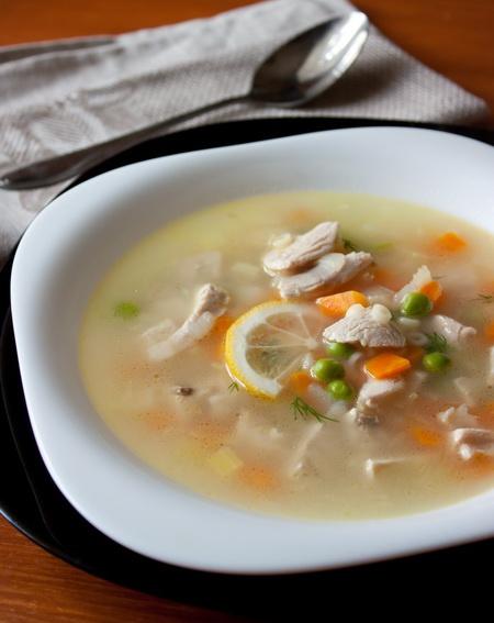 Лимонный суп из индейки