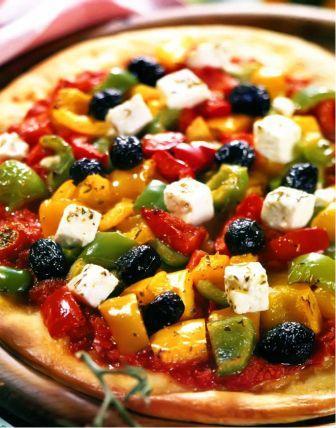 Пицца с перцами и фетой