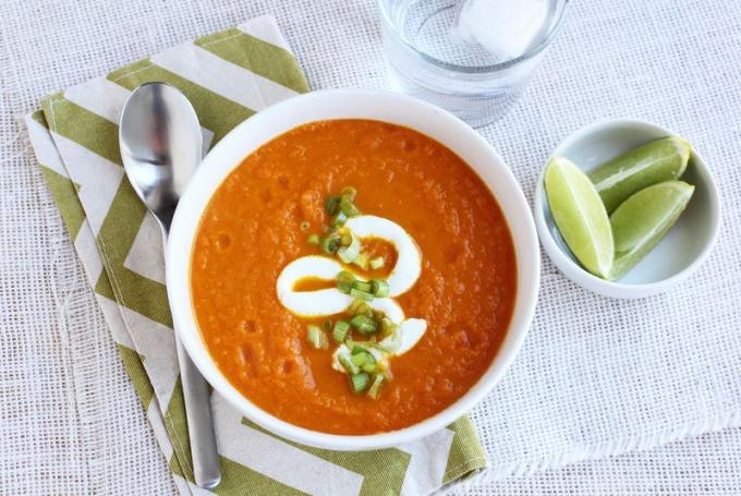Морковный суп с имбирём