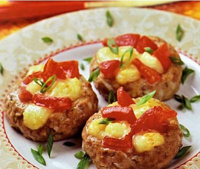 гнездышки с помидорами