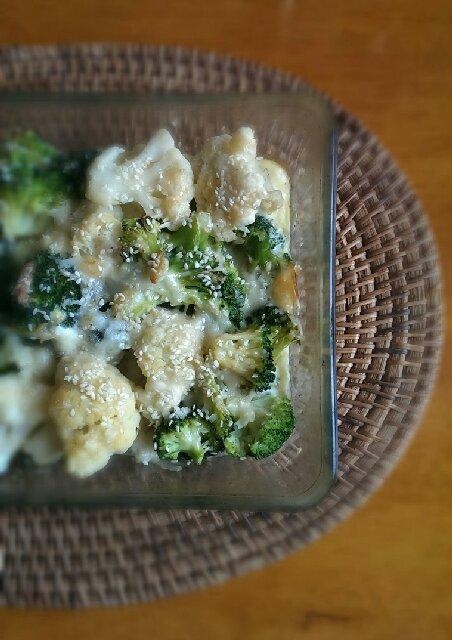 Как приготовить гратен из брокколи и цветной капусты