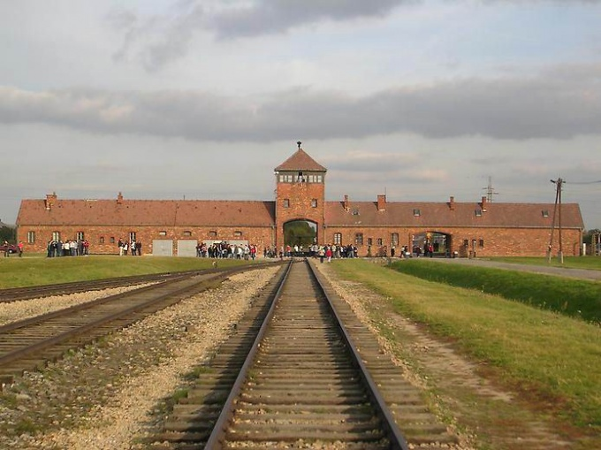 The gates of the death camps of Auschwitz