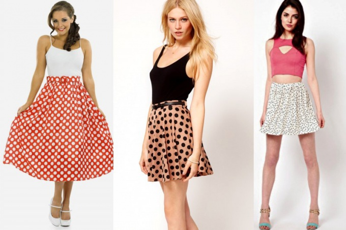 What to wear with a skirt in polka dot