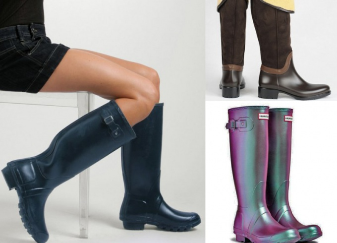 Резиновые сапоги - модный осенний тренд