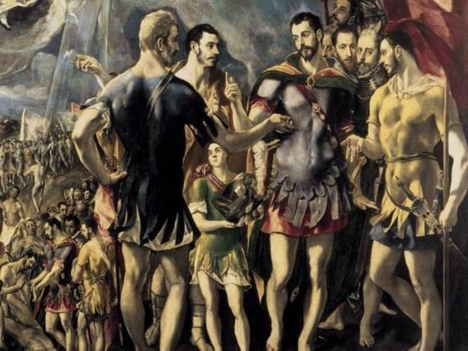Фрагмент картины «Мученичество святого Маврикия»,  художник Эль Греко