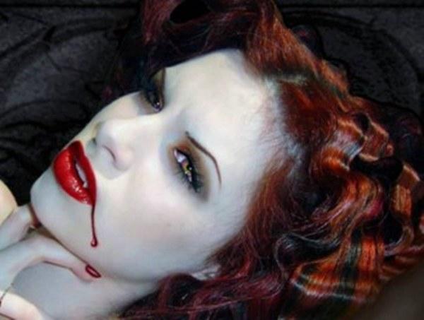 Как сделать грим под вампира