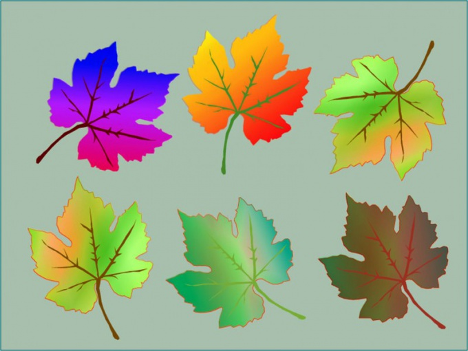 Кленовые листья - традиционный элемент открытки к 1 сентября
