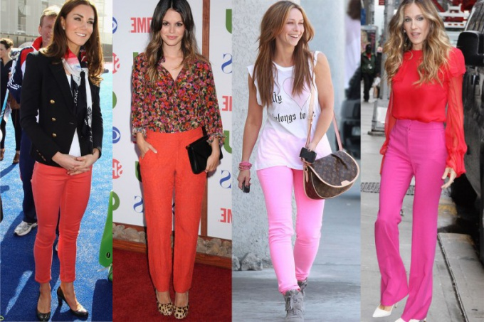 What to wear with pink and red pants
