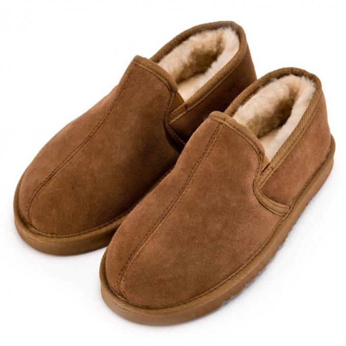Домашняя обувь из овчины