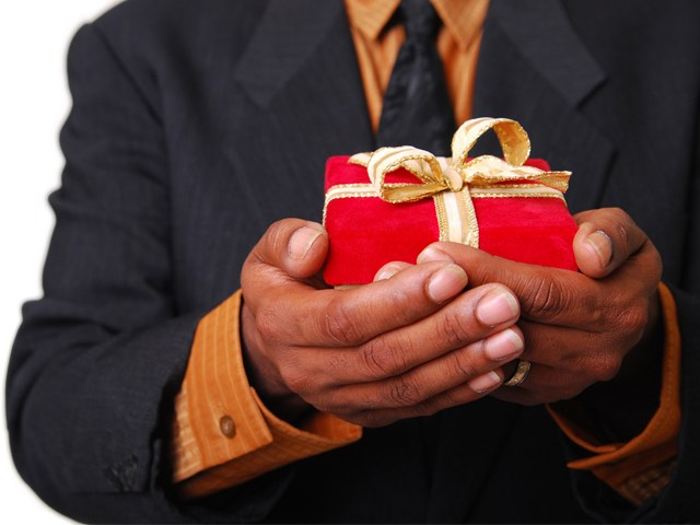 What to give the man-teacher