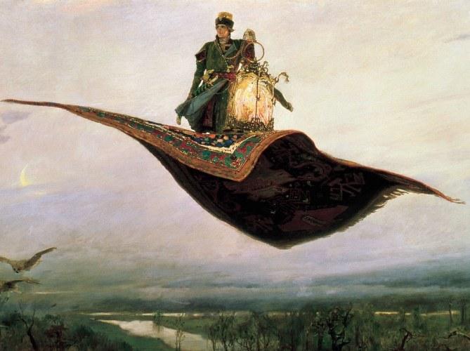 «Ковер-самолет». Художник В. Васнецов, 1880 год