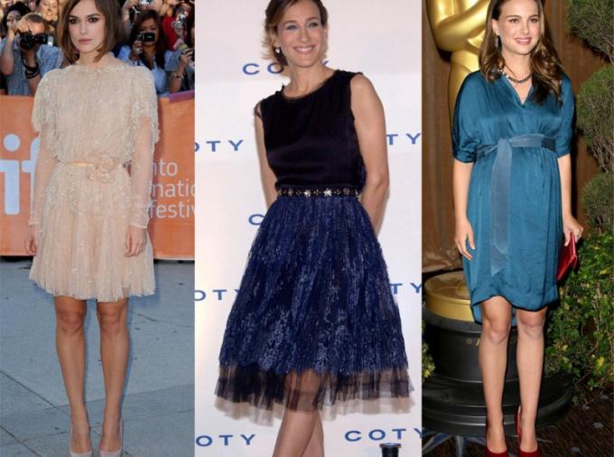 Фасоны платьев для очень худых девушек