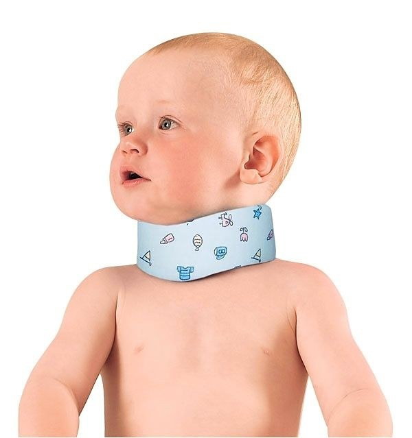 Prevention of torticollis in a newborn baby