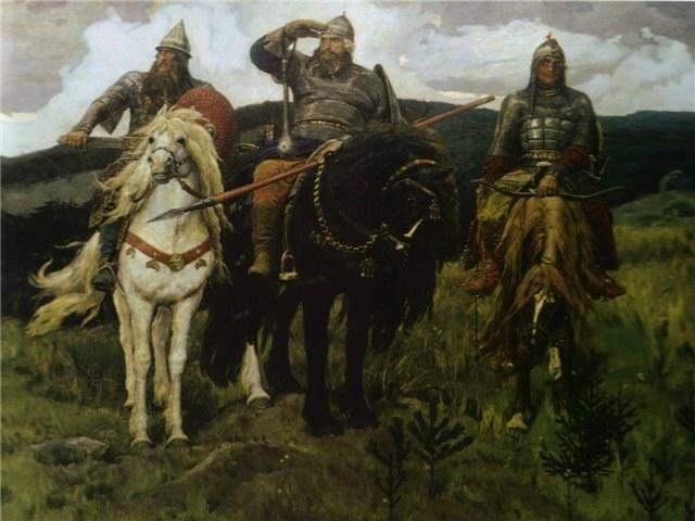 Три богатыря. Картина Васнецова