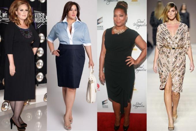 Как выбрать платье для полной женщины