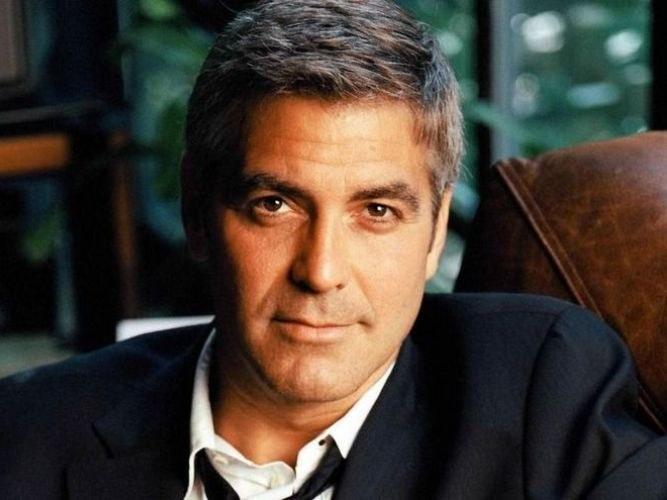 Actor George Clooney managed images of brutal men