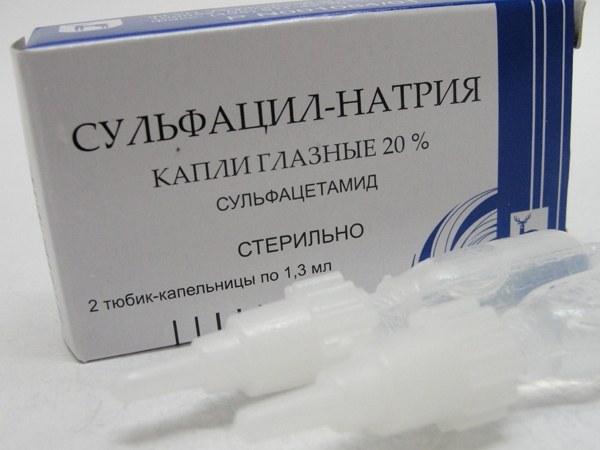 Как использовать сульфацил натрия для глаз