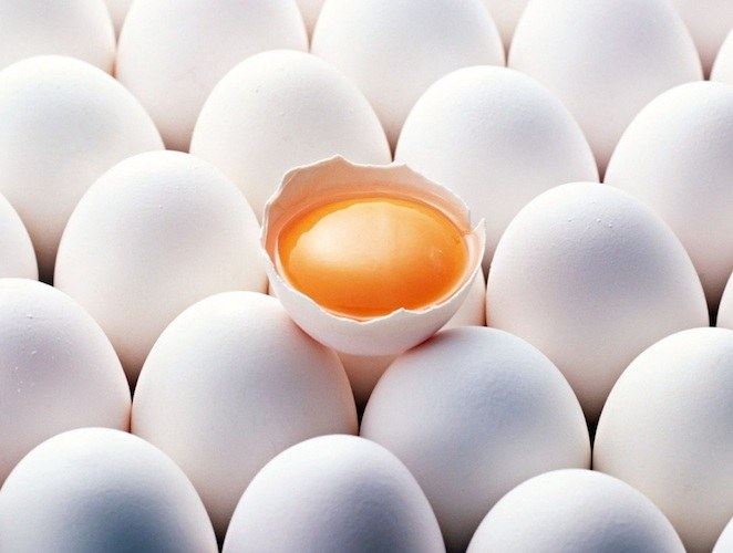 Keep raw eggs at room temperature