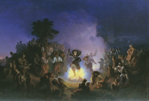 On the night of Ivan Kupala were jumping over bonfires