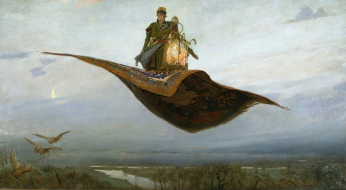 "V. M. Vasnetsov ""the flying Carpet"""