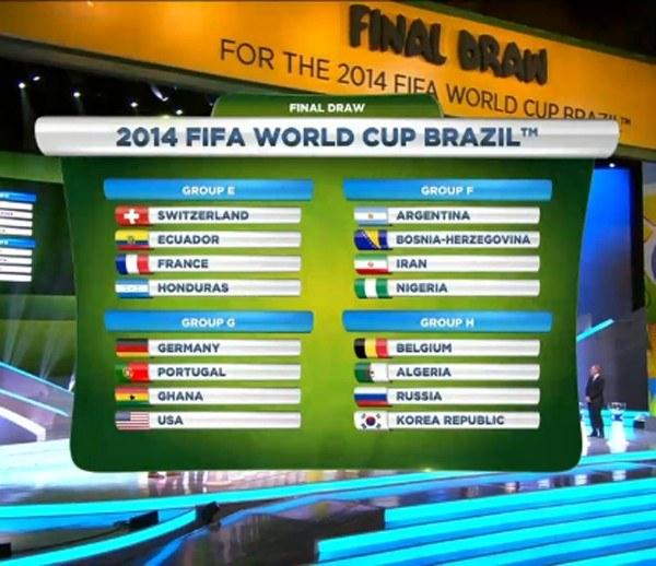 Красивым и зрелищным выглядит даже плакат с итогами жеребьевки чемпионата мира