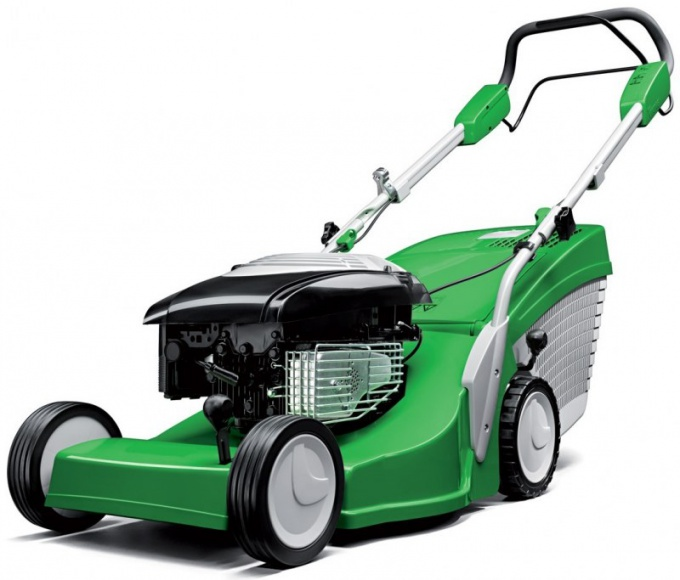 Why not start petrol lawn mower