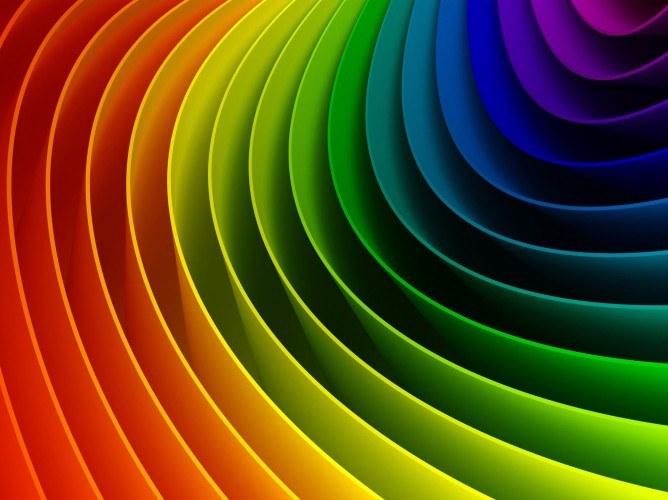 Трехмерное изображение радуги